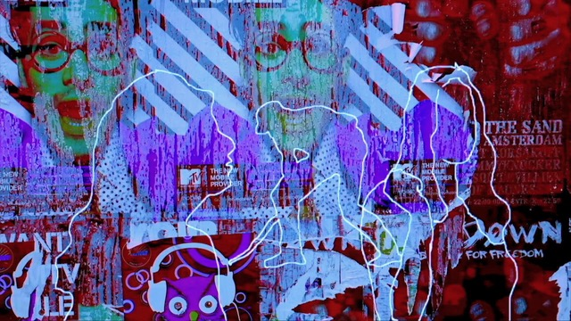Still uit Muren van Illusies, videokunst van Louis Oetelmans, te zien op het Nachtkijkers Filmfestival
